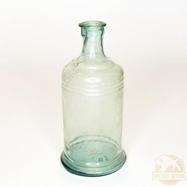 Üvegpalack zöldeskék színű