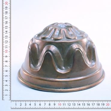Réz kuglóf forma. Ezüst...
