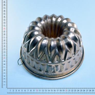 Réz kuglófsütõ forma, ezüst...