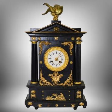 Fekete kandalló óra