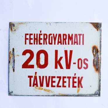 Zománctábla - Fehérgyarmati...