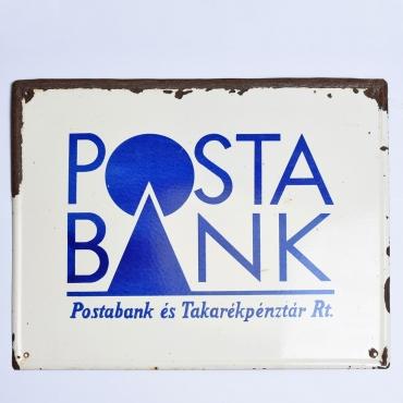Zománctábla: Posta Bank