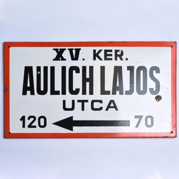 Zománctábla: Aulich Lajos...