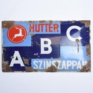 Zománctábla: Hutter ABC...