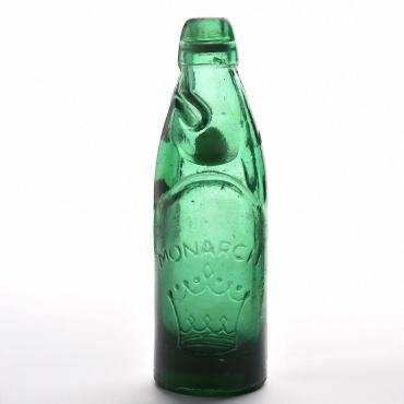 Régi zöld golyós üveg