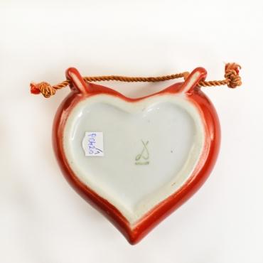 Drasche szív alakú falidísz