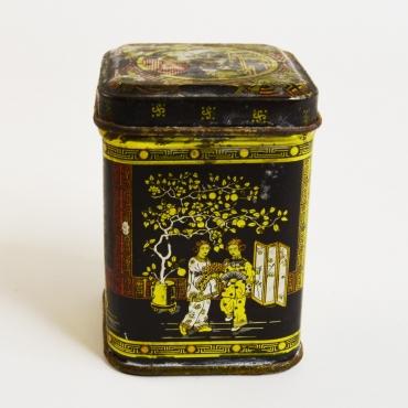 Kínai életképes fém teásdoboz