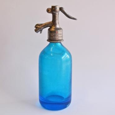 Szódásüveg 1/2 literes kék