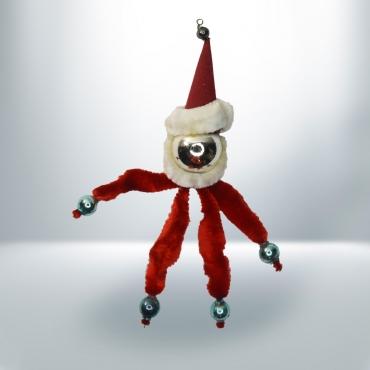 Karácsonyfadísz drót Mikulás