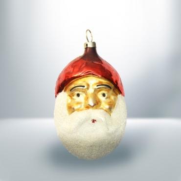 Karácsonyfadísz Mikulás fej