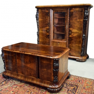 Antik dolgozószoba-bútor